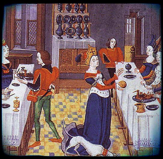Comment dresser la table d 39 un repas banquet festin avec for Table salle a manger qui ne prend pas de place